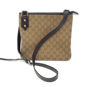 100% Auth Gucci Canvas Crossbody Bag